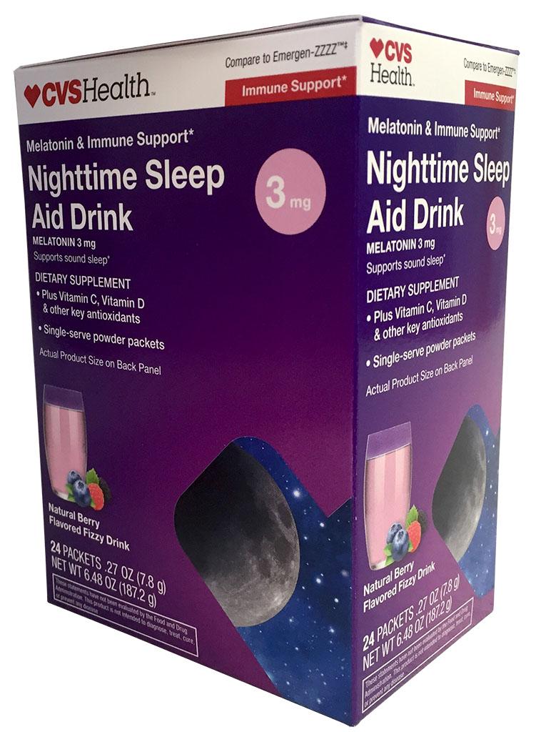 cvs nighttime sleep aid drink