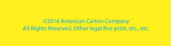 Intended appearance: cyan type on yellow background.